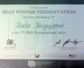 Best Poster (Session 17), PhD symposia of the Young Scientist Association of the Medical University Vienna, 2011